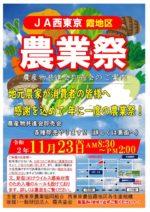 11/23㊗︎JAかすみ地区農業祭に出店♪